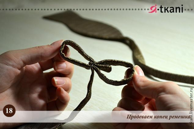 Как сшить ремешок для галстука бабочки 89