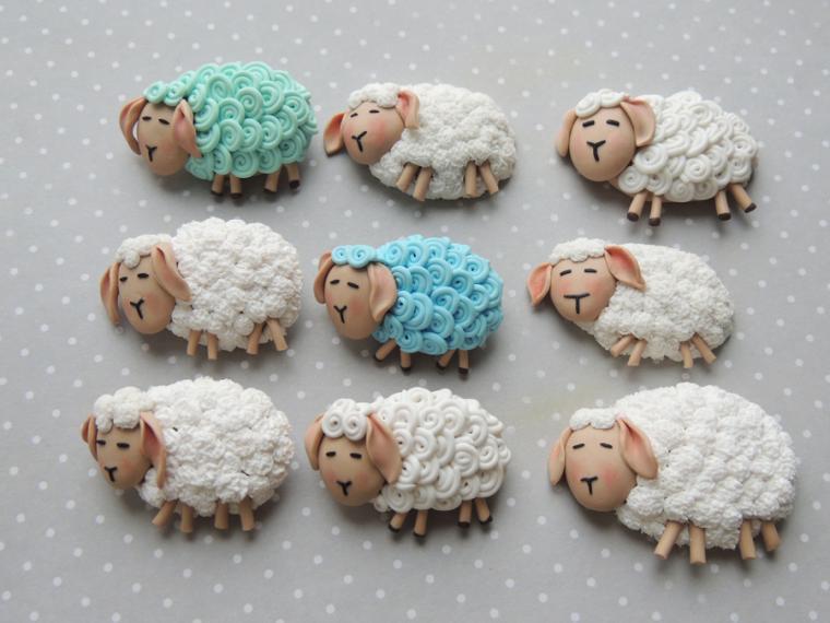 новый год, овечки, броши, коллекция к новому году