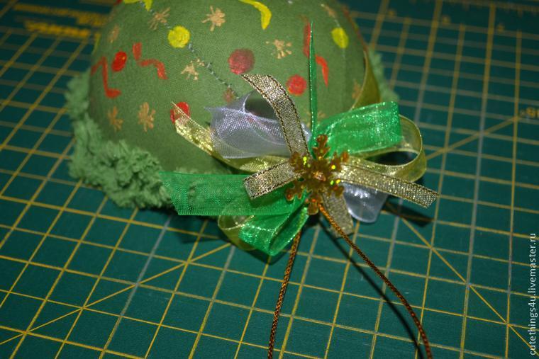 Как легко и просто сшить новогодний шар, фото № 12
