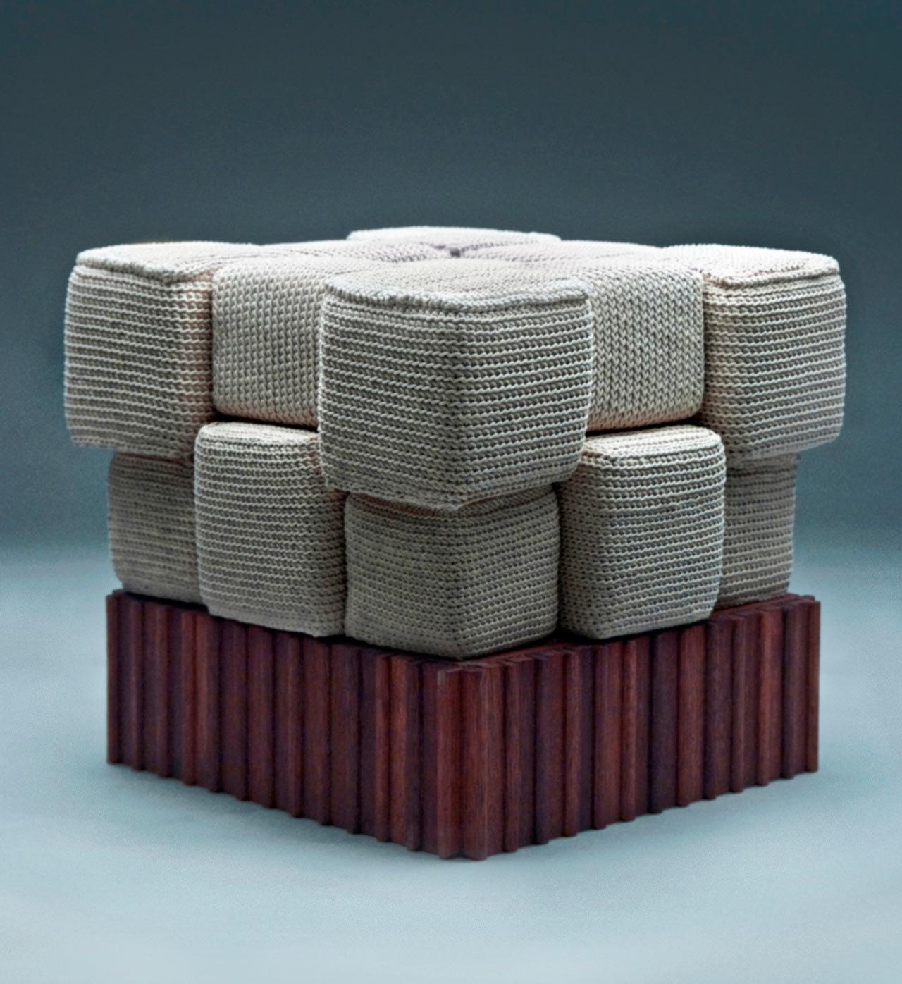 Необычные вязаные диваны, фото № 3