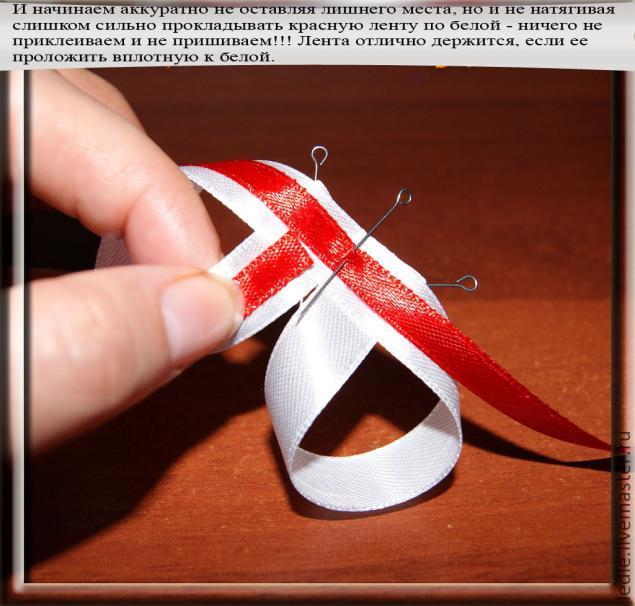 Как сделать бант из ленты на резинку