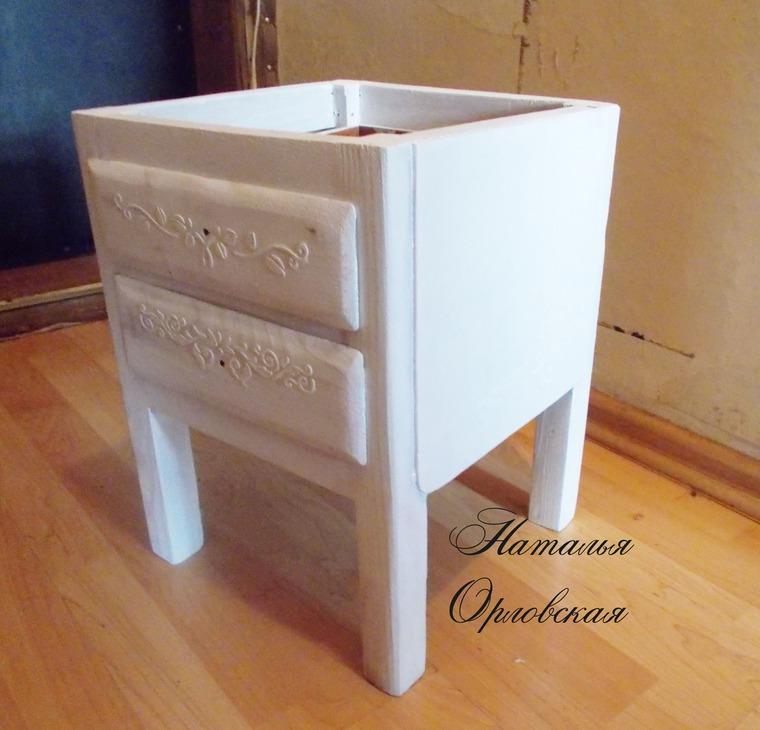 реставрация мебели, серый цвет