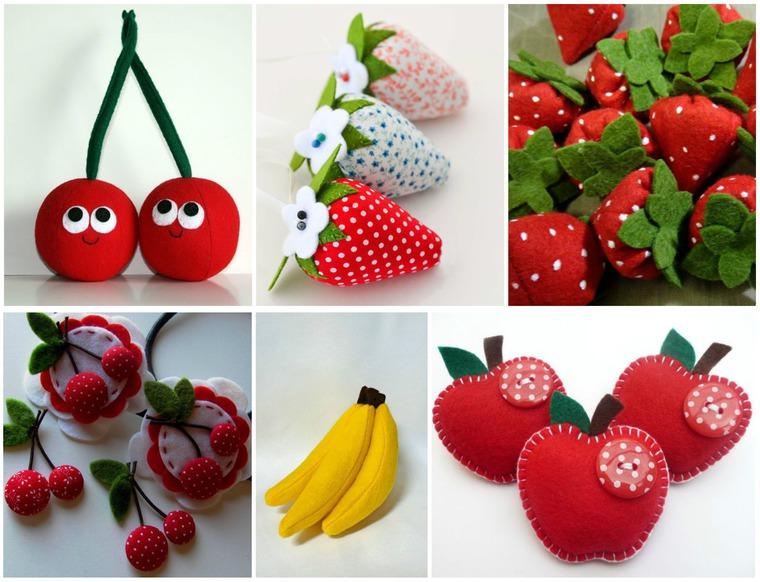 фетровые фрукты