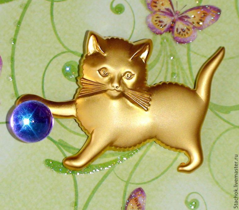 винтаж, кот, котенок