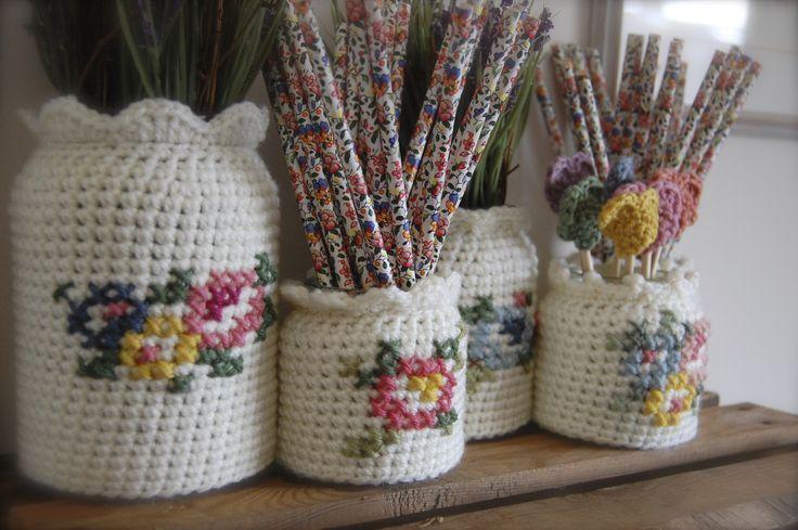crochet and cross stitch = love :)
