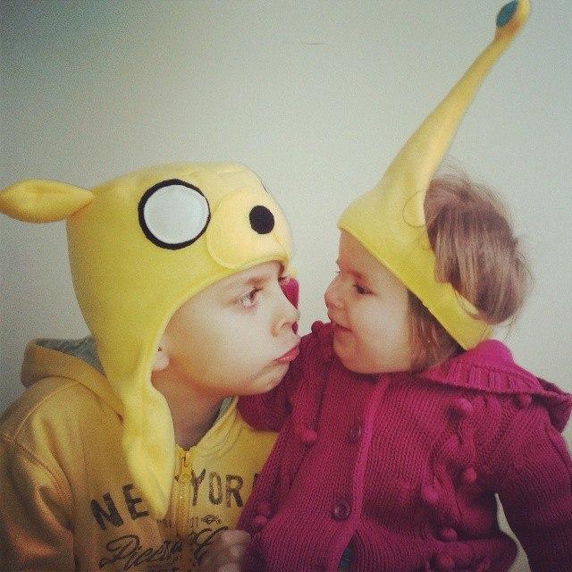 реальные фото, финн и джейк, шапка джейк, необычный подарок, подарок детям