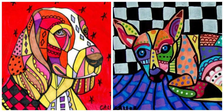 Психоделические собаки Heather Galler: невероятно яркие картины американской художницы, фото № 8