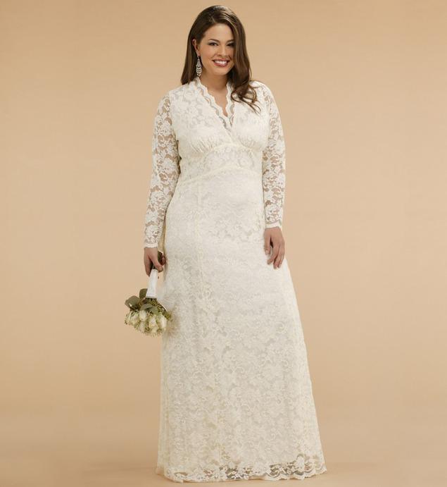 Свадебное платье для красавиц plus size — как быть красивой в самый ... 93aae72af2ad9