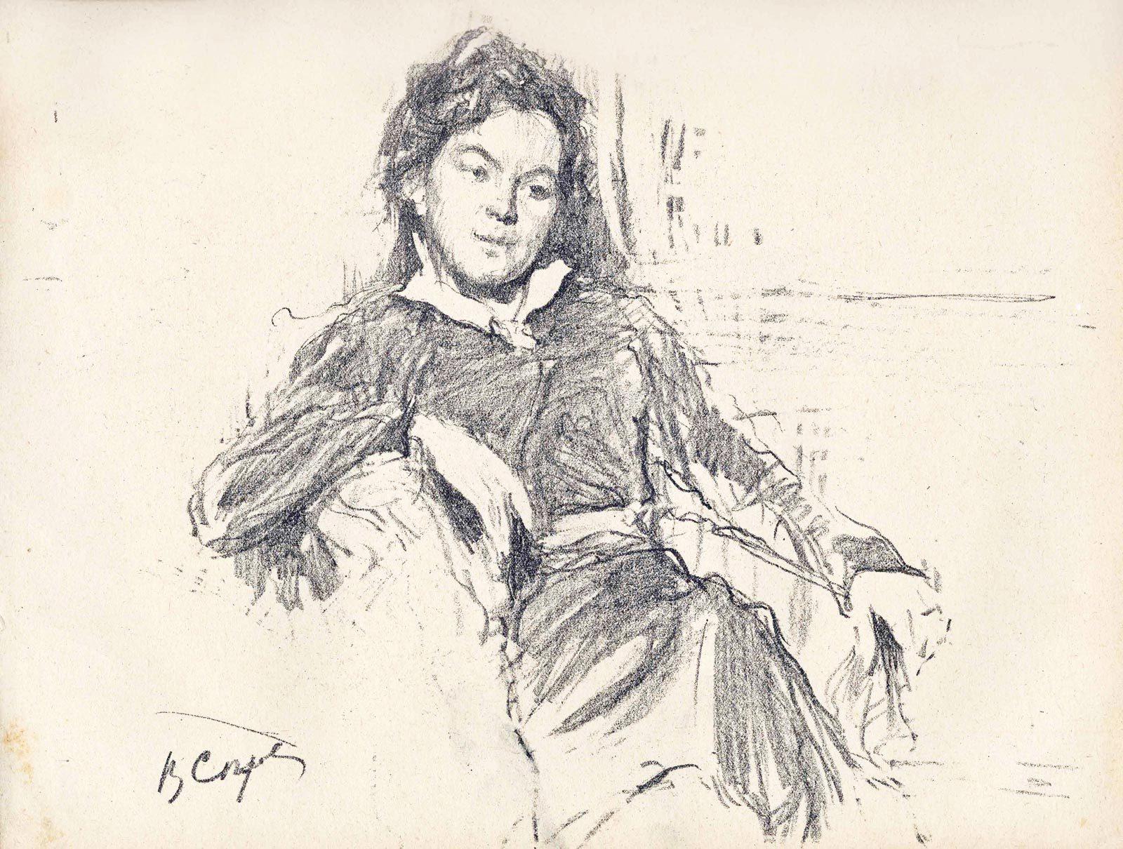 Черно-белая графика знаменитых художников, фото № 30