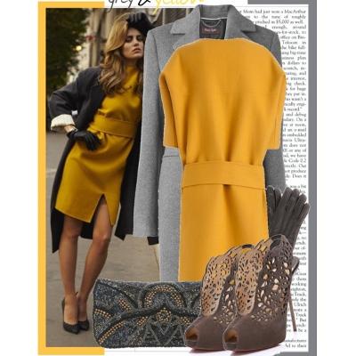 одежда цвета шафрана