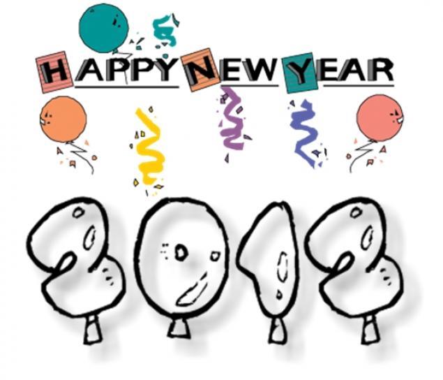 авторские открытки, новый год 2012