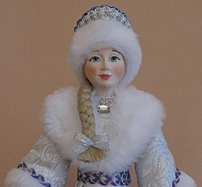 новогодний подарок, кукла в подарок, снегурочка, кукла своими руками