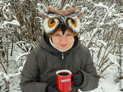 совошапка, зверо шапка сова, шапка зимняя