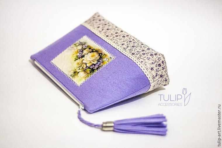 Sewing a Pretty Spring Vanity-Case of Felt and Fabric, фото № 31