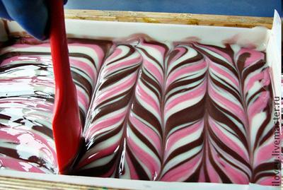 Мыло со свирлами из основы. Красиво, быстро и много!!!, фото № 26