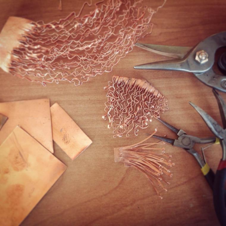 медь, листовая медь, коллекция, кружева, процесс работы, покажи свою работу