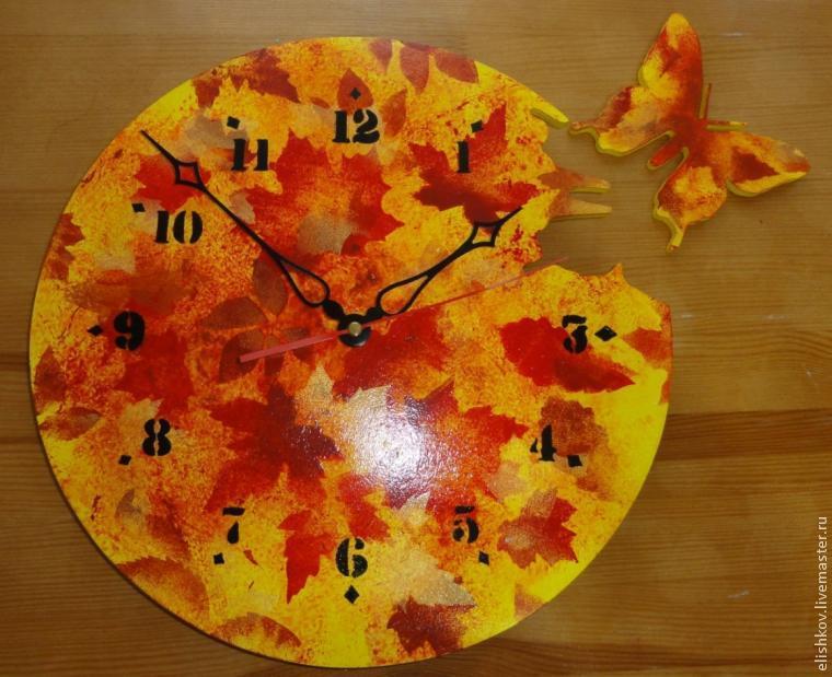 Поделка на тему осень часы 5