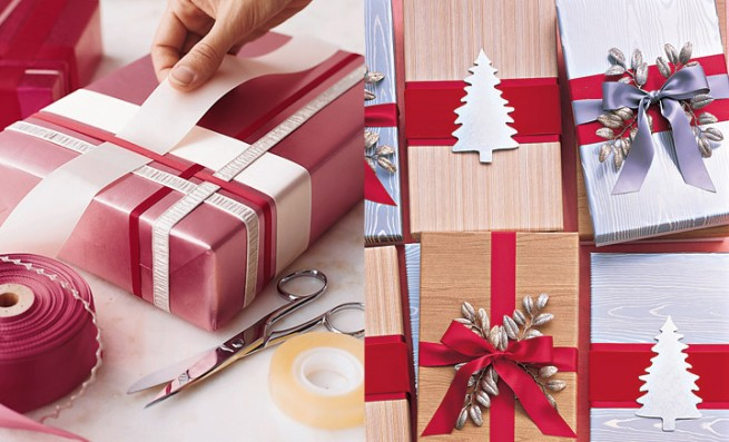 Как интересно украсить коробку для подарка 84
