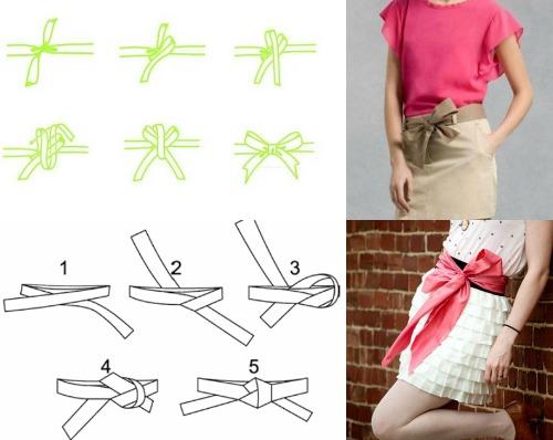Как сделать красиво пояс у юбки