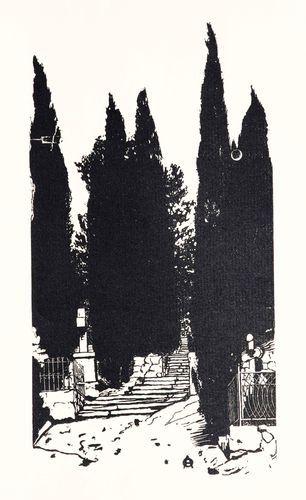 Черно-белая графика знаменитых художников, фото № 35