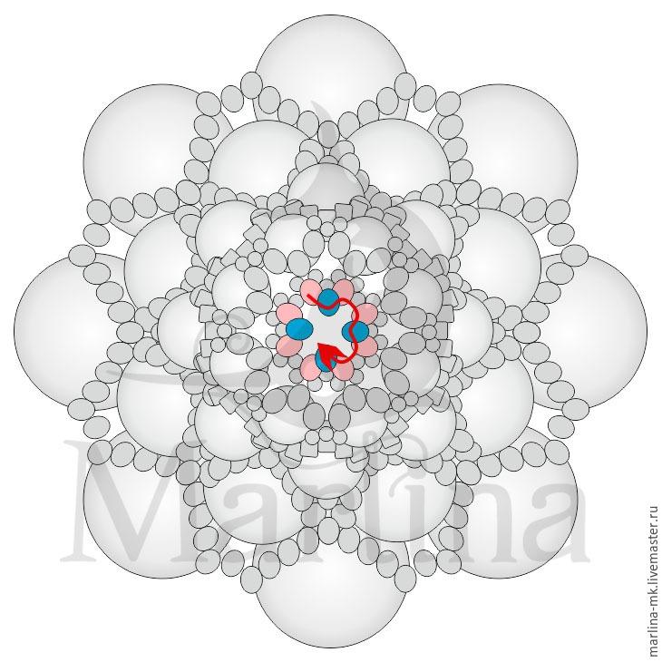 Jellyfish Pendant DIY with Pearls and Swarovski Crystals, фото № 28