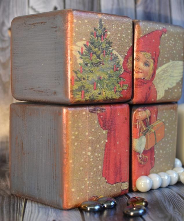Набор интерьерных кубиков - прекрасный новогодний подарок! Новинка нашей студии!, фото № 5