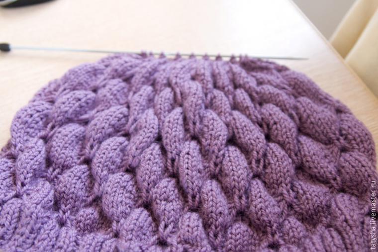 Вяжем шапку с узором «бабочки», фото № 13