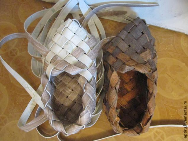 лыко, woven bark shoes