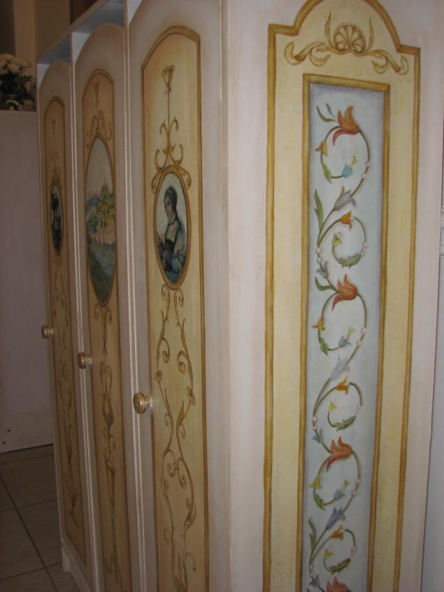 роспись мебели, мастер-класс, одношаговый кракелюр, творческий досуг