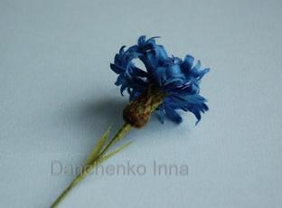Делаем цветок-василек из фоамирана - Pinterest
