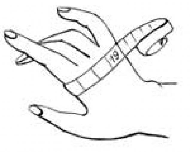 Определение размера перчаток варежек., фото № 1