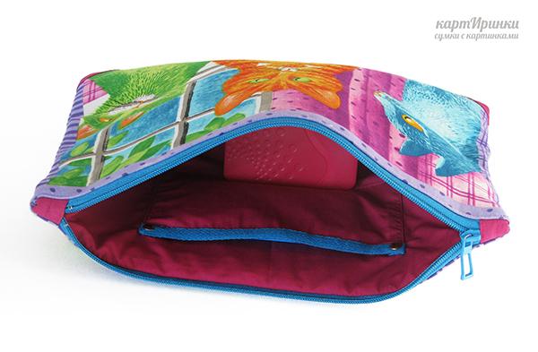 пляжная сумка, металлическая фурнитура, бирюзовый