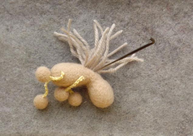 Майстер-клас по сухому валянню. «Конячка - ялинкова іграшка або брелок»