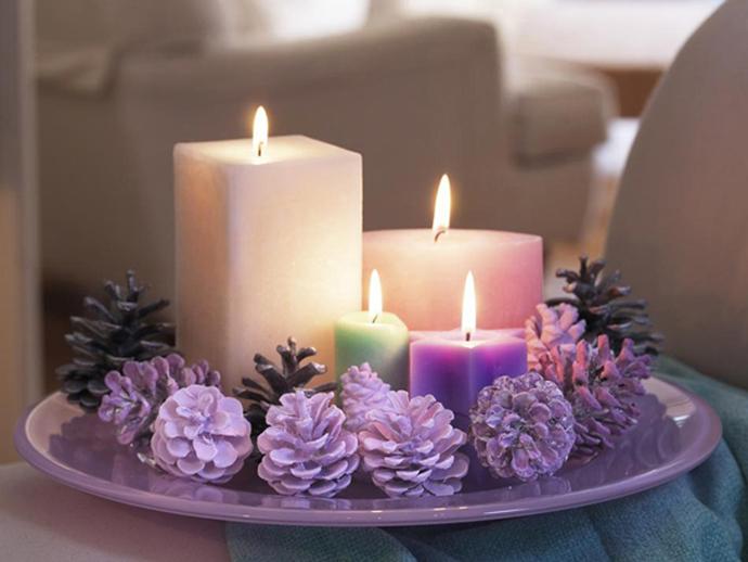 Как украсить свечу на новый год своими руками фото