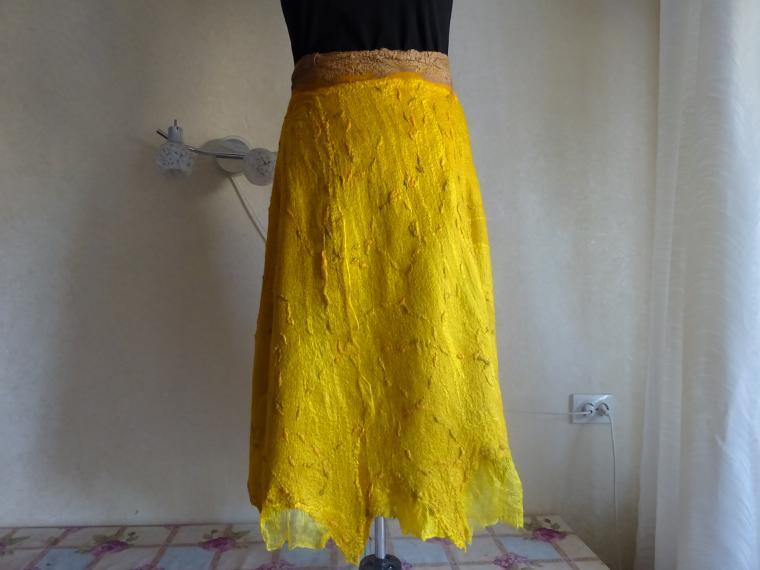 валяная длинная юбка