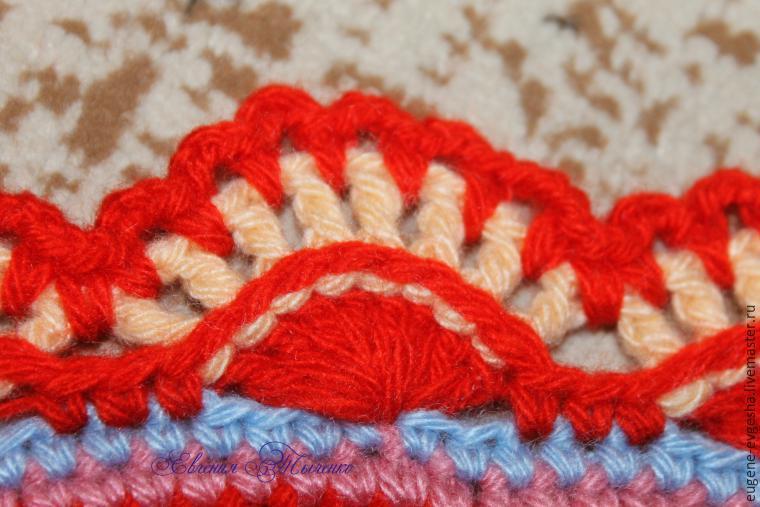 Вяжем крючком коврик-мандалу