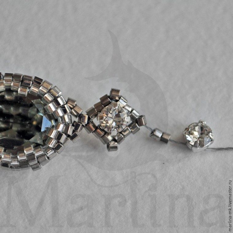 Мастер-класс поплетению браслета изкристаллов Swarovski