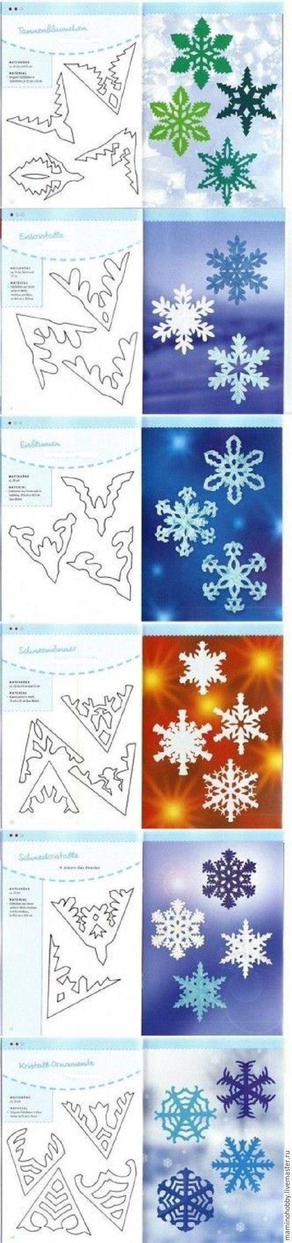 Как вырезать маленькую снежинку из бумаги своими руками поэтапно