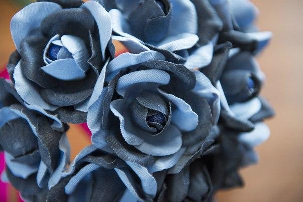 Розы из джинсовой ткани своими руками 20