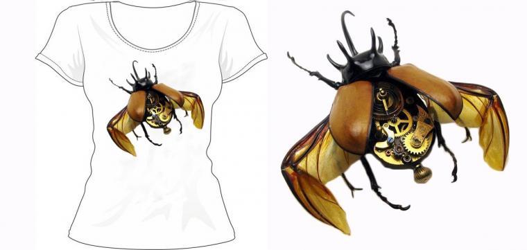 футболка с росписью