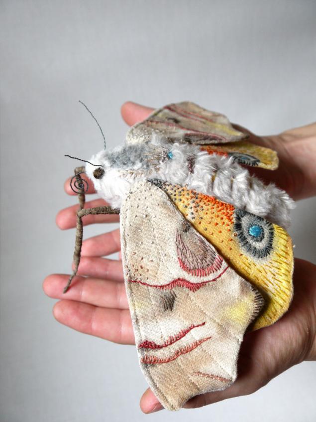 Дивные текстильные насекомые от мастера Yumi Okita, фото № 5
