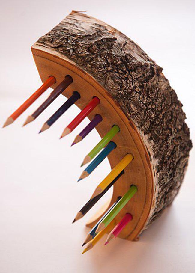 Подставки под карандаши и ручки из дерева