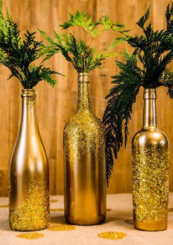 этой декор стеклянных бутылок фото коллажа