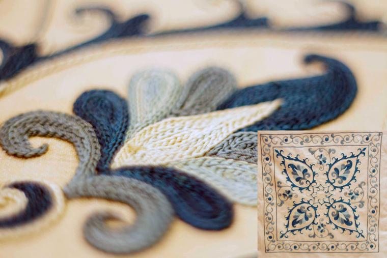Вышивка на шелке схема