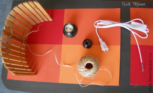 Люстра из палочек пошаговая инструкция