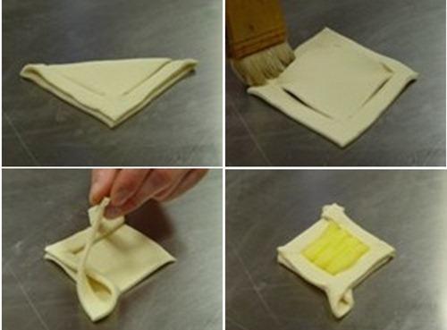 Как из теста сделать конвертик