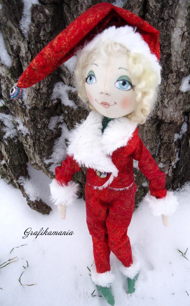 новый год 2014, интерьерная кукла