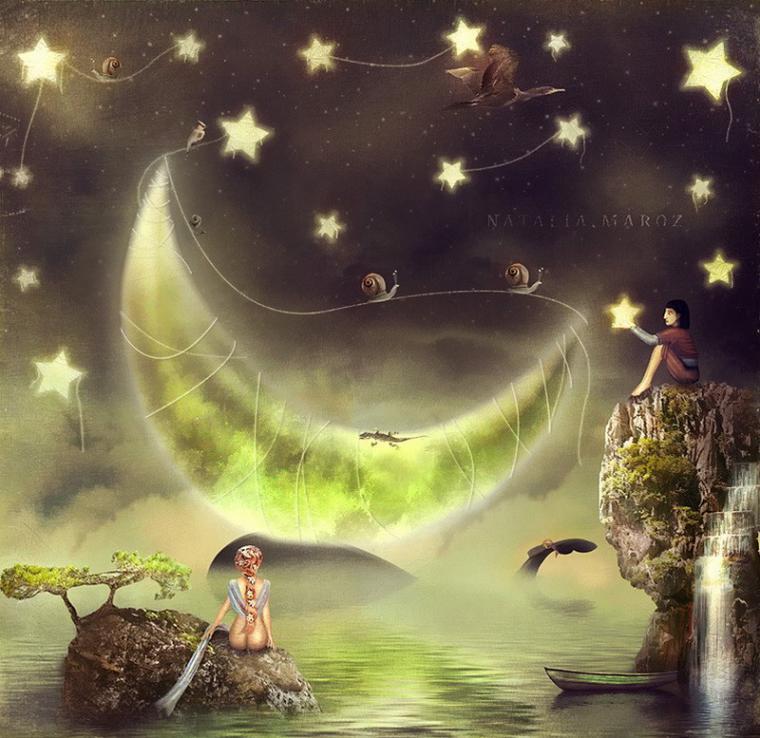 этого картинка чудесной ночи и сна созерцания