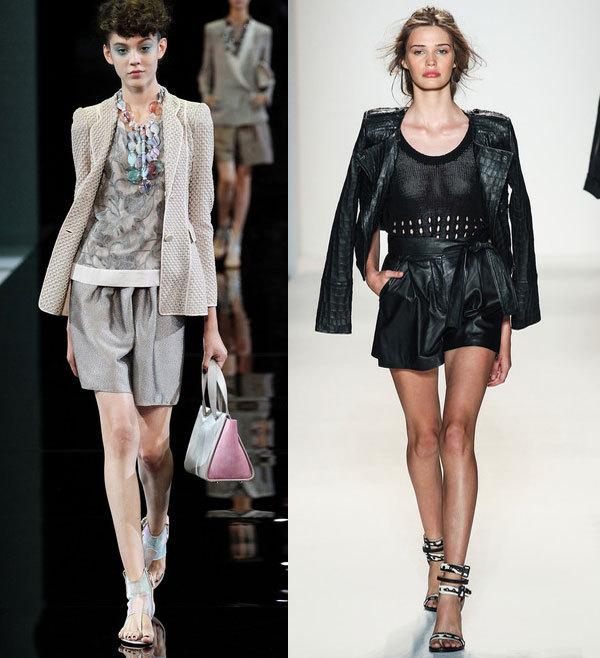 Модные  шорты для офиса весна-лето 2014 от Giorgio Armani и Rachel Zoe