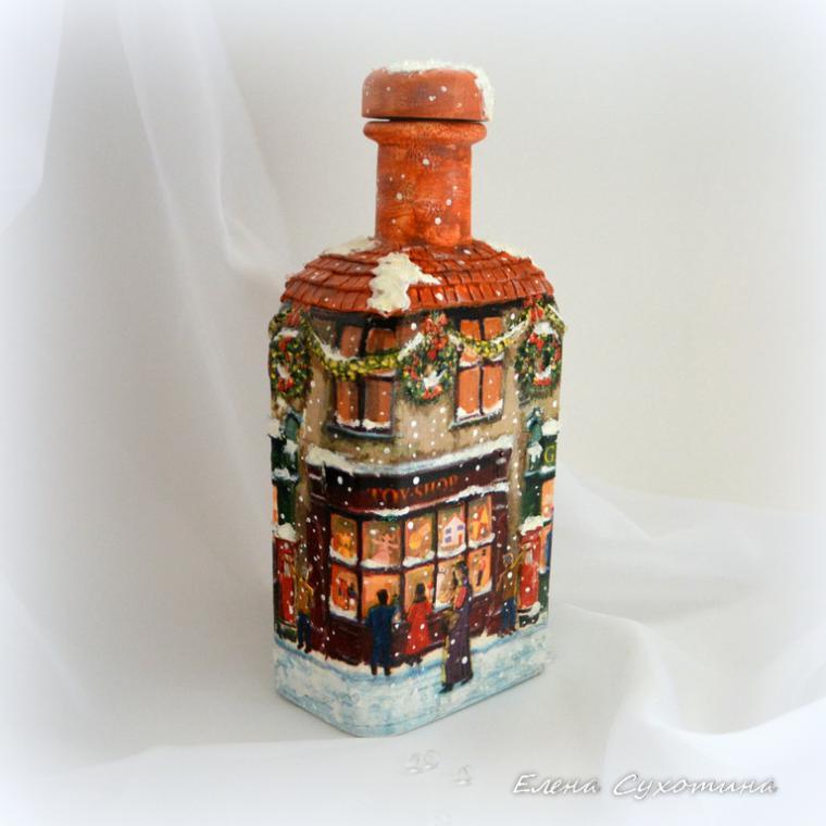 бутылка-светильник